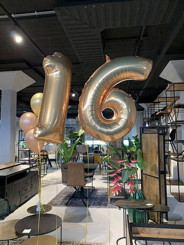 Folieballon Cijfer 16 Verjaardag 16 Jaar Sweet 16 Baas BV Rotterdam