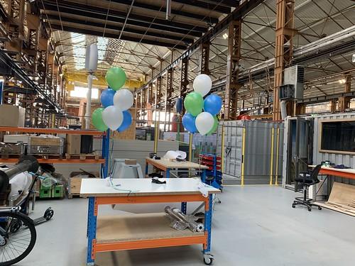 Tafeldecoratie 6ballonnen RDM Rotterdam