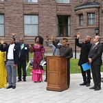Africa Day Flag raising at Quuens Park