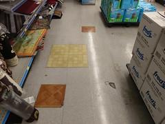Quiet please, tile-testing in progress!