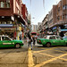 Between Green Taxis