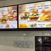 McDonald's hamburger menu in Korea