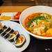분식집 김밥과 라면