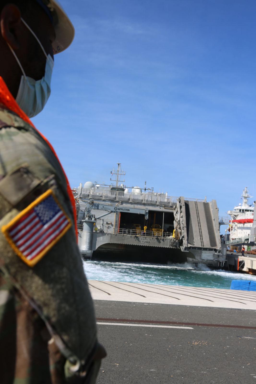 Američkim brodom YUMA stigao dio opreme za vježbu Immediate Response 21