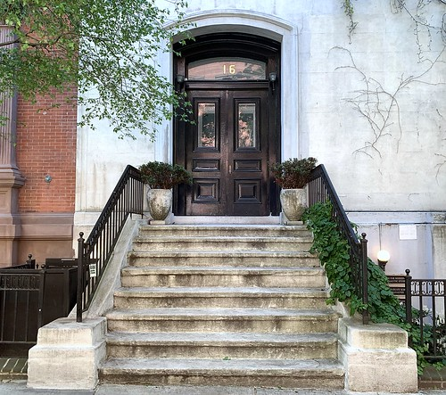 Open Arms: The entrance to 16 West 10th Street (1854-55), Greenwich Village, New York