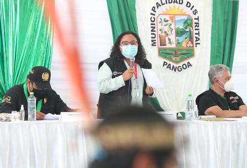 El Presidente Francisco Sagasti visita la región Junín ,  junto con el titular del Mininter, José Elice, supervisan la donación de explosivos por parte de la Sucamec a la Dirandro (PNP) . Y acompañado por seis ministros de Estado, lidera el diálogo entre el Ejecutivo y las organizaciones indígenas de la selva central.