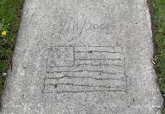 9/11 Sidewalk Memorial, Egbertville