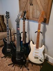 PRS, ESP 7 string, Inbanez, !977 American Strat