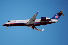 N445AW / United Express [op. by Air Wisconsin] Bombardier CRJ-200LR / JFK