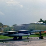 This is how Newark Air Museums' ex Armee de L'air F-100D looked like when first put on display. 54-2223/ 11-YK.