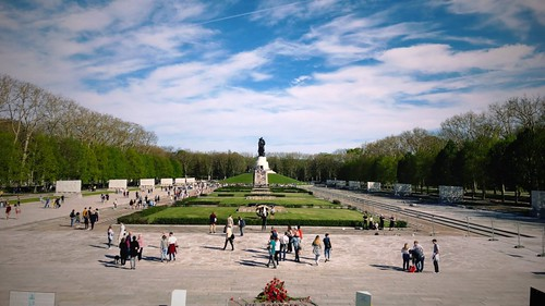 Victory Day at the Soviet Memorial in Treptow