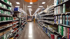 ...and an aisle devoted to office supplies...