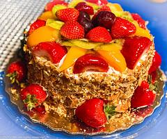 Strawberry & Peach Sensation Mother's Day Cake