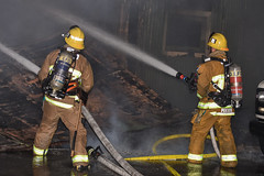One Man Dies Overnight in a South LA Commercial Fire