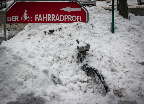 The bike and the snow