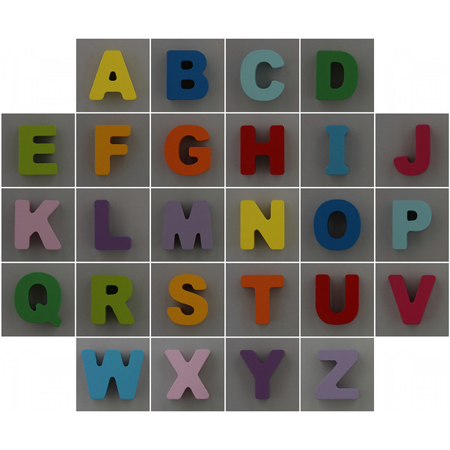 Photo:Wooden Alphabet Puzzle Board By Leo Reynolds