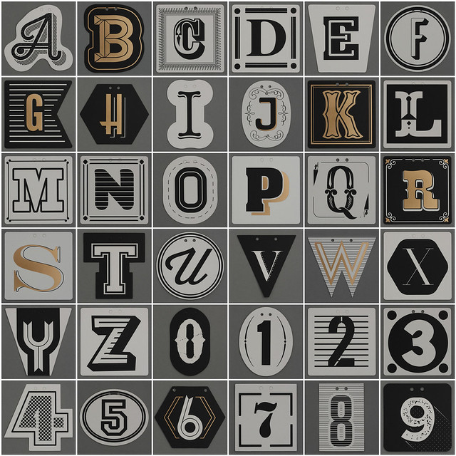 Photo:Typography Bunting Alphabet & Numbers By Leo Reynolds