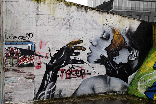 Liege ❤, Streetart Ghent, Belgium