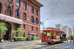 University Club Hotel and Cable car. San Francisco