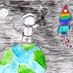 092 - Uomo nello spazio di Gaia 8 anni