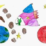 034 - Alieno in giro per lo spazio di Sofia 8 anni