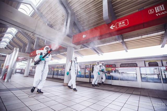 33化學兵群執行北部地區消毒