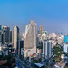 Multiphoto panorama of Sukhumvit area city landscape from the Grand Centering on the Pullman bure Point Hotel centilding, Thailand.423-Pano-Pano-Edit