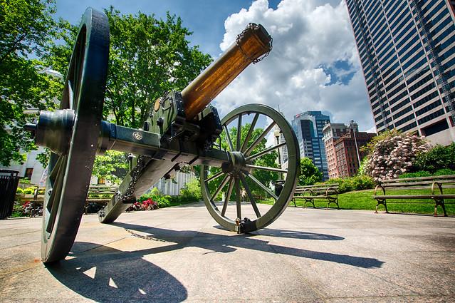 Columbus Capital building cannon
