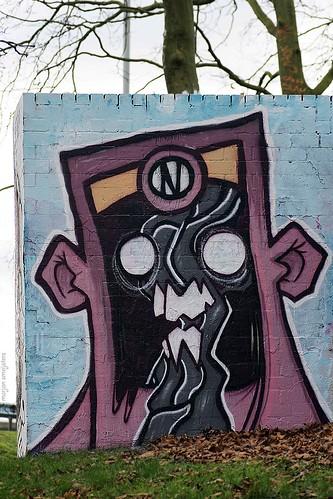 'Crazy',  Streetart Arnhem, The Netherlands