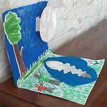 28. Cielo riflesso sul lago di Giulio 8 anni