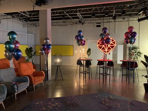 Tafeldecoratie 6ballonnen Chrome Bruno Roommate Hotel Rotterdam