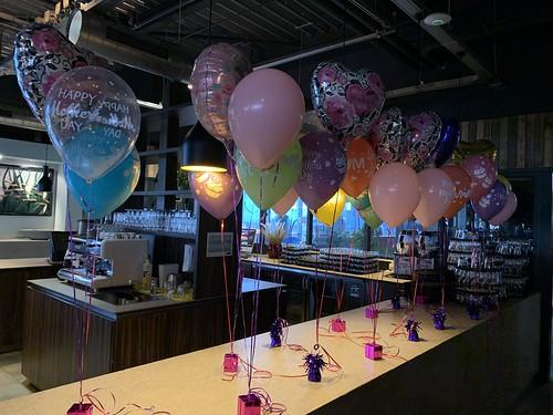 Tafeldecoratie 3ballonnen Moederdag Watertuin Spijkenisse