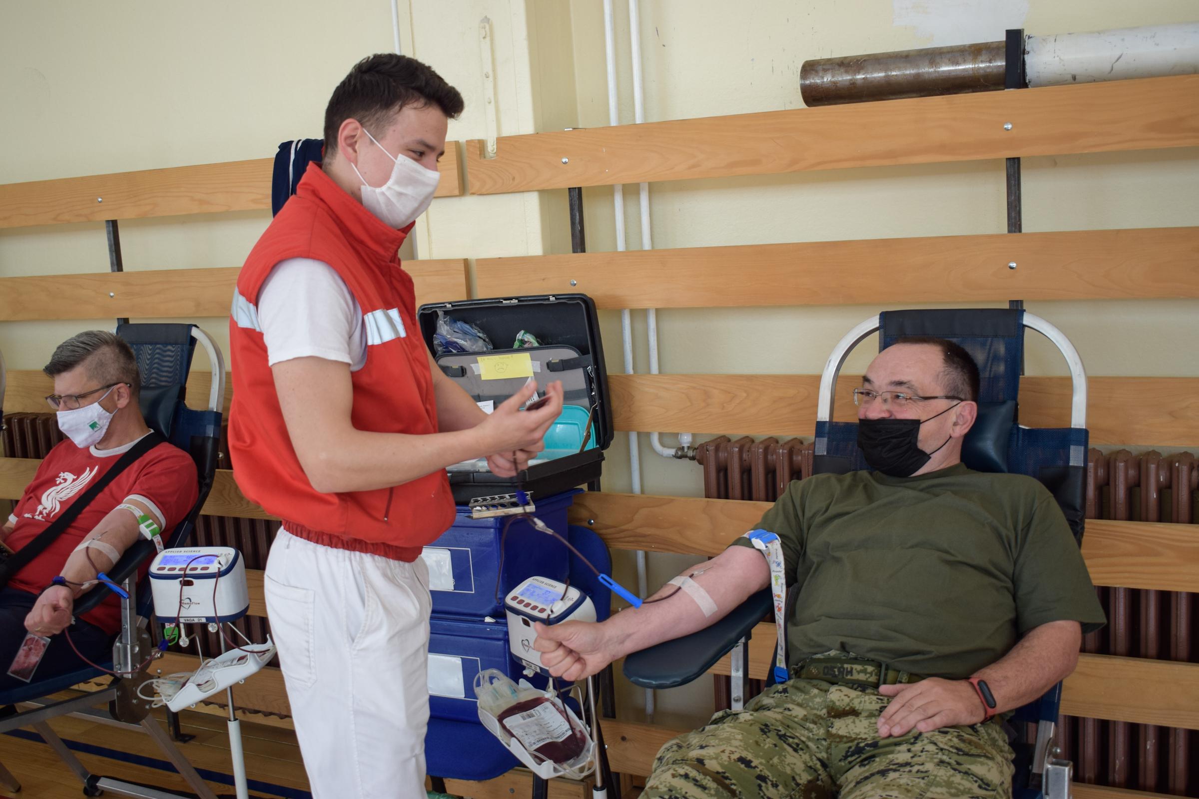 Dobrovoljno darivanje krvi u vojarni 1. gardijske brigade Tigrovi – Croatia