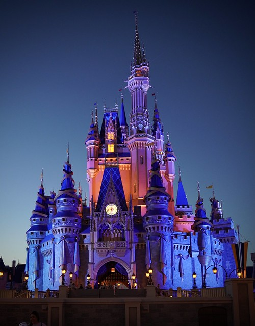 Photo:Cinderella's Castle at the Magic Kingdom in Disney World at night By Steve Carr Photography