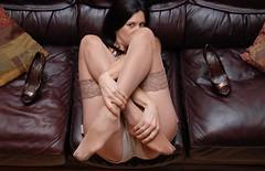 Alicia Dwyer Nylon Stockings Feet