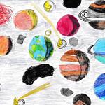 095 - Pianeti e asteroidi di Giorgia 10 anni