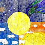 051 - Sfumature del cielo di Alessandra 11 anni