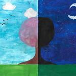 025 - Il cielo e le stelle di Maria Chiara 11 anni