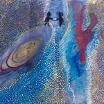 038 - Colli...unione_ le galassie via Lattea e Andromeda di Rebecca 10 anni