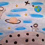 085 - Astronauti lunari di Giuseppe Giulio 8 anni