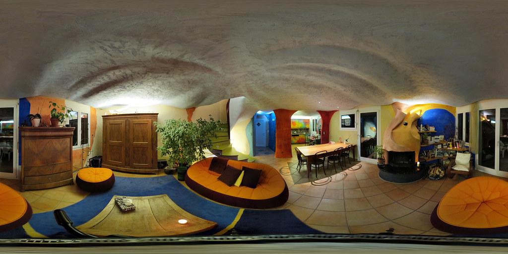 Visite virtuelle salon; rénovation écologique avec décoration et ambiances personnalisées