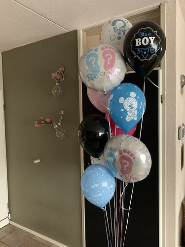 Ballonboeket Gender Reveal Party Baby