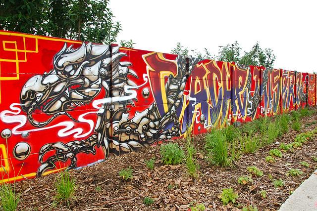 Photo:Graffiti dragon By zigazou76