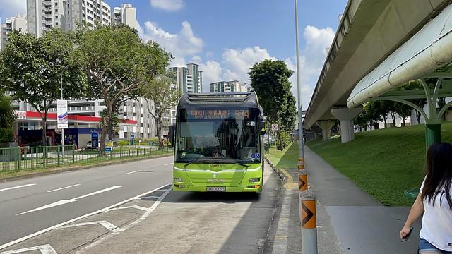 Tower Transit Singapore - MAN A22 (Batch 1) SMB3009S on Service 974