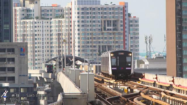 曼谷地鐵紫線T004   Bangkok MRT Purple Line Trainset T004