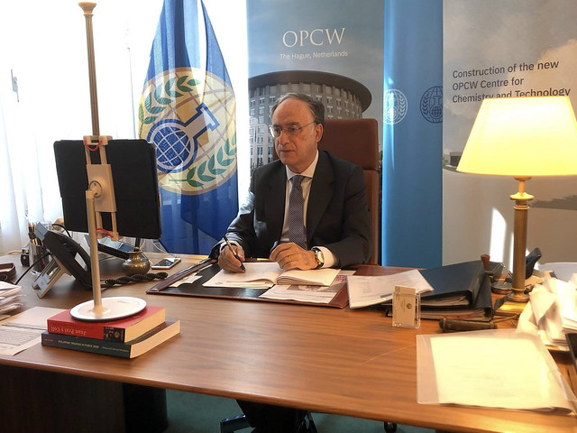 Photo:OPCW's Director-General meets Bahrain's Assistant Foreign Minister By OPCW