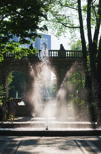 Wassertropfen am Märchenbrunnen
