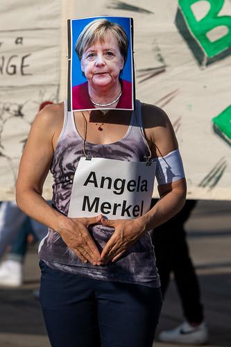 Angela Merkel war Kandidatin für den Klimavollfosten des Monats beim Klimamontag