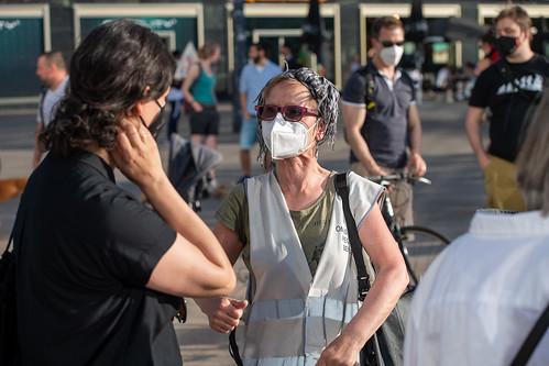 Klimamontag: Demonstration von Berlin4Future für effektivere Klimapolitik, Berlin, Alexanderplatz, 07.06.2021