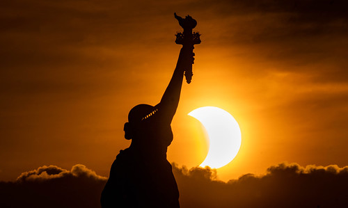 Statue of Liberty Annular Solar Eclipse